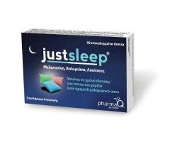 PharmaQ Just Sleep Συμπλήρωμα διατροφής, το οποίο περιέχει μόνο φυσικά συστατικά, 30tabs