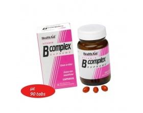 Health Aid Vitamin B Complex Supreme 90 tablets, Συμπλήρωμα Διατροφής για το μεταβολισμό και την υγεία του νευρικού συστήματος