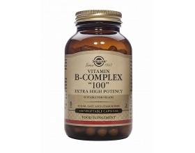 Solgar B-100 COMPLEX veg.caps  Νευρικό σύστημα-δέρμα, μαλλιά, οφθαλμοί-ορμόνες-Ανοσοποιητικό σύστημα-κυκλοφορία  100s