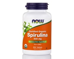 Now Foods Spirulina 500mg, Συμπλήρωμα Διατροφής βοηθούν στη σωστή λειτουργία του νευρικού και ανοσοποιητικού συστήματος, 200 ταμπλέτες