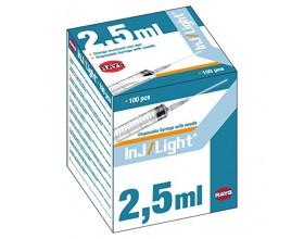 Σύριγγες Rays asu ενσωματωμένη 2.5ml 23G 100 τεμάχια