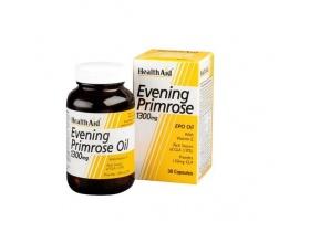 Health Aid  EVENING PRIMROSE 1300mg,συμβάλει στο καλό κυκλοφορικό και στην ομαλή λειτουργία του μεταβολισμού 30 κάψουλες