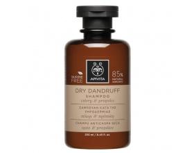 Apivita Dry Dandruff Shampoo Σαμπουάν κατά της Ξηροδερμίας, με Σέλετι & Πρόπολη, 250ml