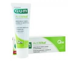 GUM 6050 Activital Q10 Toothpaste Καθημερινή προστασία των ούλων και δοντιών χάρη στα αντιοξειδωτικά Q10 & Ρόδι 75ml