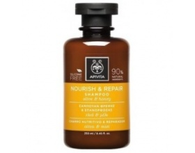 APIVITA Nourish & Repair Shampoo Σαμπουάν Θρέψης & Επανόρθωσης με Ελιά & Μέλι, για Ξηρά Μαλλιά, 250ml