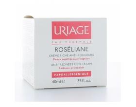 URIAGE Roseliane Creme Riche Anti-Rougeurs - Πλούσια Ενυδατική Κρέμα Προσώπου κατά της Ερυθρότητας 40ml