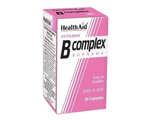 Health Aid Vitamin B Complex Supreme, Συμπλήρωμα Διατροφής για το μεταβολισμό και την υγεία του νευρικού συστήματος 30 tablets