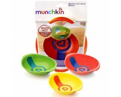 Munchkin, White Hot Bowls Μπολ Γεύματος με Ένδειξη Θερμότητας 3τμχ