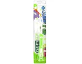 Gum 901 Kids Παιδική Οδοντόβουρτσα Μαλακή 3-6 ετών χρώματος πράσινο , 1 τεμάχιο