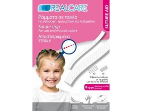 RealCare Suture Strip, Αποστειρωμένα Ράμματα σε ταινία, 8τεμ