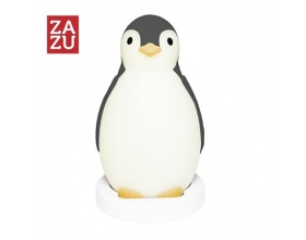 ZAZU Pam penguin Speaker, learning waking, sleeping, night light gray