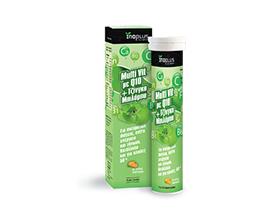 Inoplus Multi + Q10 + Gingko Biloba Συμπλήρωμα διατροφής για διάγεια & ενέργεια με γεύση πορτοκάλι 80g
