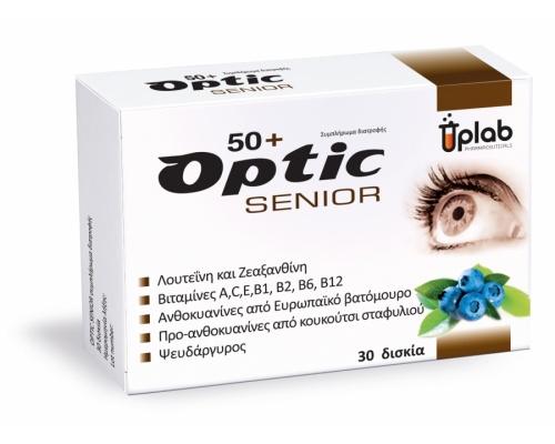 Uplab Optic Senior 50+ Συμπλήρωμα διατροφής, στην προστασία της υγείας των ματιών 30tabs