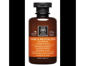 Apivita Shine & Revitalizing Shampoo Σαμπουάν Λάμψης & Αναζωογόνησης με Πορτοκάλι & Μέλι, για Όλους τους Τύπους Μαλλιών, 250ml