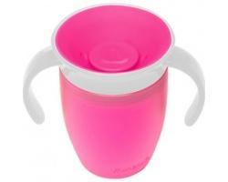 Munchkin, Miracle 360° Trainer Cup  Κύπελλο Εκπαιδευτικό χρώματος Φούξια 207ml