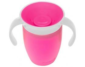 MUNCHKIN Miracle 360° Trainer Cup  Κύπελλο Εκπαιδευτικό χρώματος Φούξια 207ml