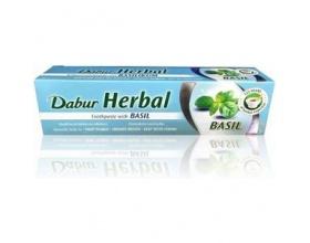 Samcos Dabur Basil Toothpaste 100ml, Οδοντόκρεμα Φυτική Αγιουβερδική με βασιλικό