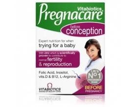 VITABIOTICS Pregnacare Conception Συμπλήρωμα διατροφής περιέχει μια ποικιλία θρεπτικών συστατικών που μπορούν να συμβάλλουν στην αναπαραγωγική υγεία της γυναίκα 30 ταμπλέτες