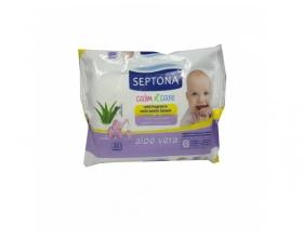 Septona, Calm n Care, Μωρομάντηλα Aloe Vera x 20, 1 τεμ.