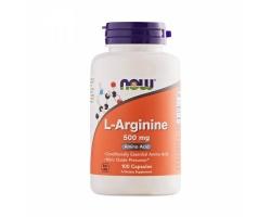 Now Foods L-Arginine 500 Mg 100 caps, Συμπλήρωμα Διατροφής που βοηθά στην αύξηση κινητικότητας του σπέρματος, στην ανάπτυξη και επιδιόρθωση των μυών και στη σύνθεση κολλαγόνου