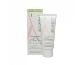 A-Derma Hydralba Crème Hydratante UV Legere 40ml, Ενυδατική κρέμα προσώπου για κανονικό προς μικτό εύθραυστο δέρμα με δείκτη προστασιας spf 20