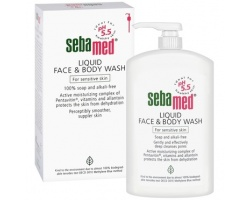 SEBA MED Liquid Face & Body Wash 300ml