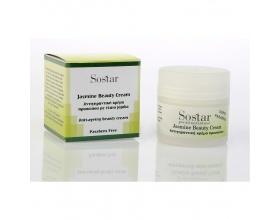 SOSTAR Jasmine Beauty Cream - Αντιγηραντική Κρέμα Προσώπου με έλαιο jojoba, 50ml