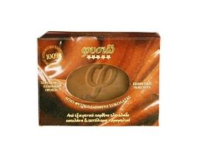 ΦΥΣΙΩ Αγνό φυσικό σαπούνι από εξαιρετικό παρθένο ελαιόλαδο, σοκολάτα & εκχύλισμα χαμομηλιού, 90gr