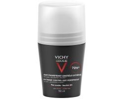 Vichy HOMME Deodorant Atni - Transpirant Αποσμητικό κατά της έντονης εφίδρωσης με άρωμα 72h, 50ml