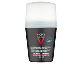 VICHY HOMME Deodorant Anti-transpirant, Αποσμητική φροντίδα για 48 ώρες για την ευαίσθητη επιδερμίδα των ανδρών 50ml