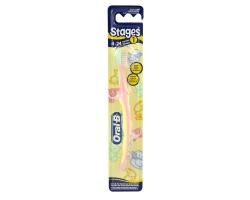 ORAL-B Οδοντόβουρτσα 4-24 μηνών (ρόζ-λαχανί-κίτρινο)