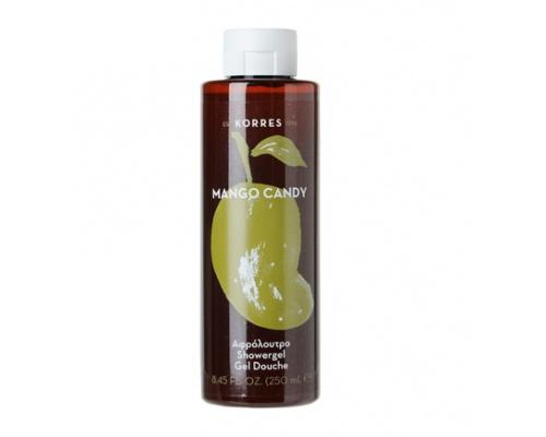 Korres Showergel Mango Candy Αφρόλουτρο με Ενυδατικές Πρωτείνες Σιταριού ,250ml
