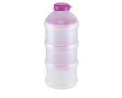 NUK Milk Powder Dispenser Δοσομετρητής σκόνης γάλακτος Θήκη για 3 δόσεις (ροζ)