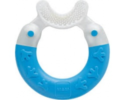 MAM Bite & Brush 560, Πολυκρίκος καθαρισμού δοντιών απο 3+ Μηνών, Χρώμα Μπλέ