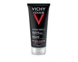 """Vichy Homme Hydra Mag C Gel Douche 200ml, Αφρόλουτρο με συνδυασμό Μαγνησίου και Βιταμίνης C που """"γεμίζει"""" ενέργεια"""