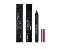 KORRES, Raspberry Matte Twist Lipstick-Daring Plum, Κραγιόν σε πρακτική συσκευασία μολυβιού για ultra ματ τελείωμα με ακρίβεια και εξαιρετική διάρκεια, 1,5g