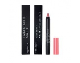 KORRES, Raspberry Matte Twist Lipstick-Dusty Pink, Κραγιόν σε πρακτική συσκευασία μολυβιού για ultra ματ τελείωμα με ακρίβεια και εξαιρετική διάρκεια, 1,5g