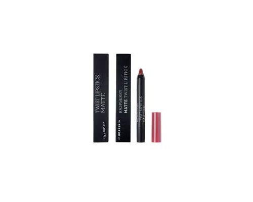 KORRES, Raspberry Matte Twist Lipstick-Addictive Berry, Κραγιόν σε πρακτική συσκευασία μολυβιού για ultra ματ τελείωμα με ακρίβεια και εξαιρετική διάρκεια, 1,5g