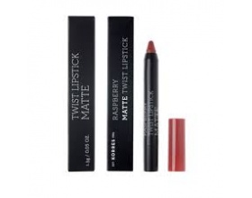 KORRES, Raspberry Matte Twist Lipstick-Ruby Redk, Κραγιόν σε πρακτική συσκευασία μολυβιού για ultra ματ τελείωμα με ακρίβεια και εξαιρετική διάρκεια, 1,5g