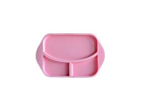 MARCUS & MARCUS, Βρεφικός Δίσκος Φαγητού Σιλικόνης με Χωρίσματα, Χρώμα Ροζ, 1τμχ