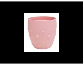MARCUS & MARCUS, Εκπαιδευτικό Ποτήρι Σιλικόνης Ροζ 24+m, 1τμχ