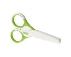 NUK Baby Nail Scissors, Ψαλιδάκι ασφαλείας με στρογγυλεμένες άκρες και προστατευτικό κάλυμμα, Πράσινο, 1 τεμάχιο