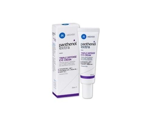 Medisei Panthenol Extra Triple Defense Eye Cream Κρέμα Ματιών με τριπλή δράση για ρυτίδες, σακούλες και μαύρους κύκλους 25ml