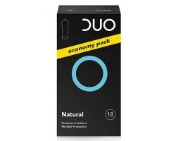 DUO CONDOMS Natural, Προφυλακτικά υψηλής ποιότητας, Κανονικό, 18 τεμάχια