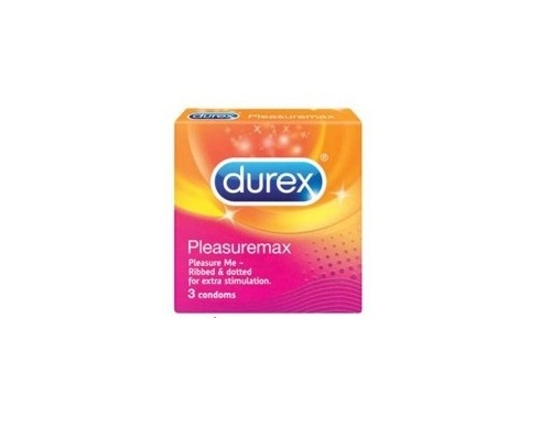 Durex PleasureMax Προφυλακτικά 3 τεμ.