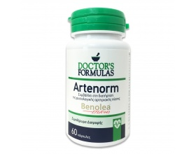 Doctor's Formulas Artenorm Συμβάλλει στη διατήρηση της φυσιολογικής αρτηριακής πίεσης ,περιέχει ξηρό εκχύλισμα φύλλων ελιάς Benolea 60 δισκία