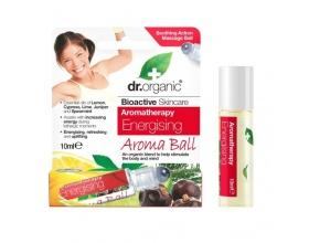 Dr.organic Energising Aroma Ball  Ίαμα απο συνδιασμό οργανικών & φυσικών αιθέριων ελαίων για ενέργεια 10ml