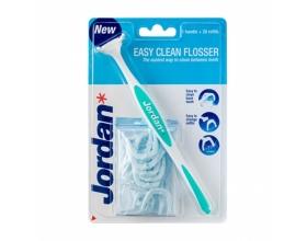 Jordan Easy Clean Flosser Σύστημα Οδοντικού Νήματος Λαβή + 20 Ανταλλακτικά Νήματος