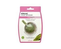 VICAN, Konjac Face Sponge Σφουγγάρι Προσώπου με Σκόνη Πράσινου Τσαγιού, 1 Τμχ.
