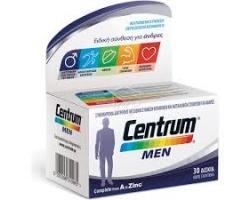 Centrum Men Complete from A to Zinc Συμπλήρωμα βιταμινών & μεταλλικών στοιχείων, με ειδική σύνθεση για την κάλυψη των αναγκών του άνδρα 30 δισκία